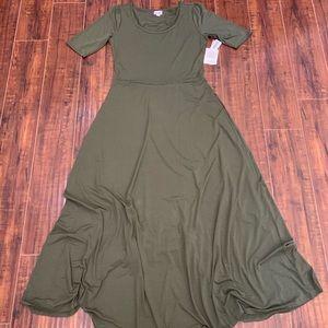 NWT LulaRoe Ana Dress army green size XL